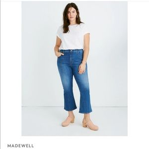 NWT Madewell Cali boot cut blue high rise jeans size 37 plus